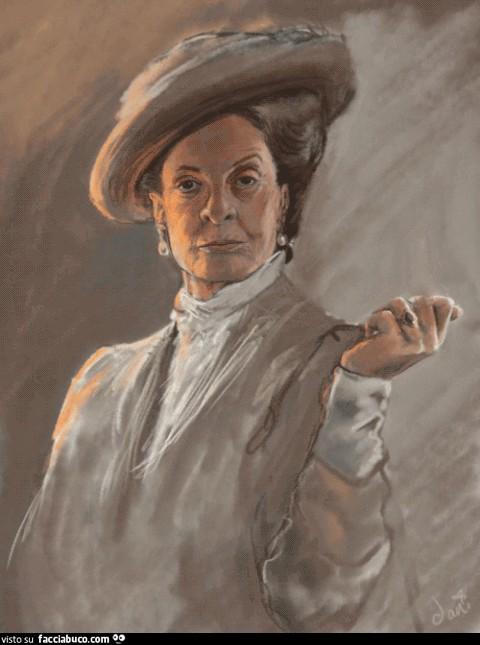 Maggie Smith fa il dito medio