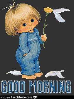 Bambino con fiore. Good Morning